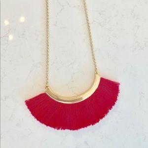 Stella & Dot Eden Pink Tassel Necklace